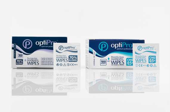 Pre-injection and medical device wipes