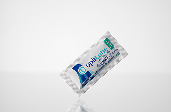 Sterile lubricating gel